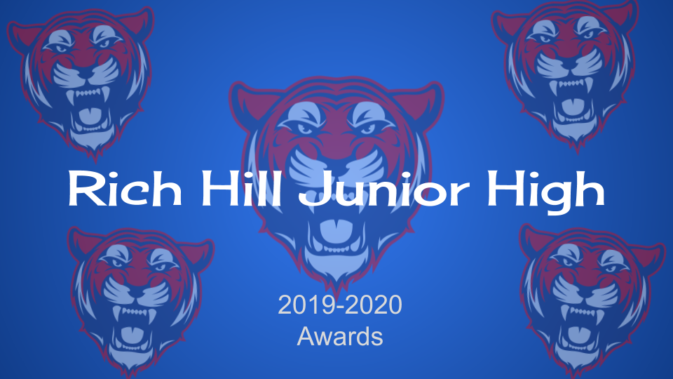 Rich Hill Junior High end of the year awards