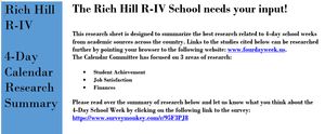 RH R-IV Seeks Parent and Community Input