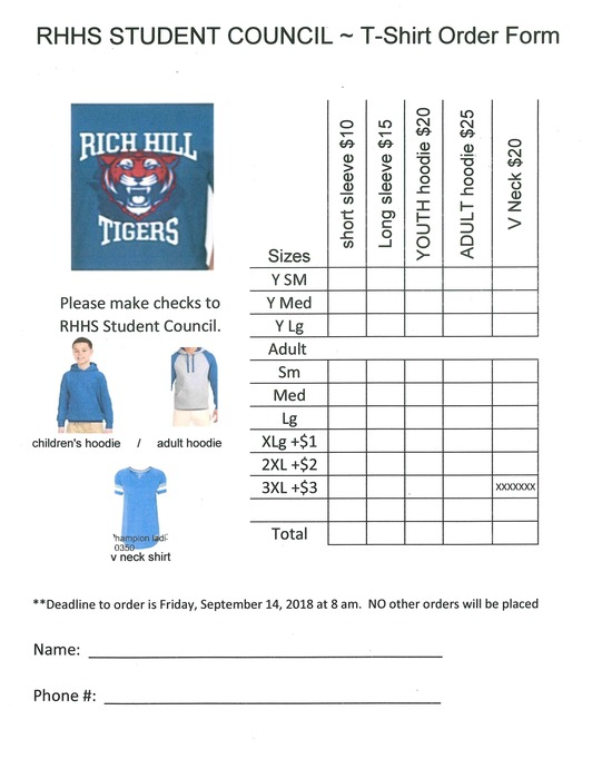 STUCO Shirt order form