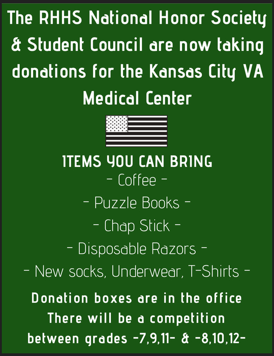 DONATIONS FOR KANSAS CITY VA MEDICAL CENTER