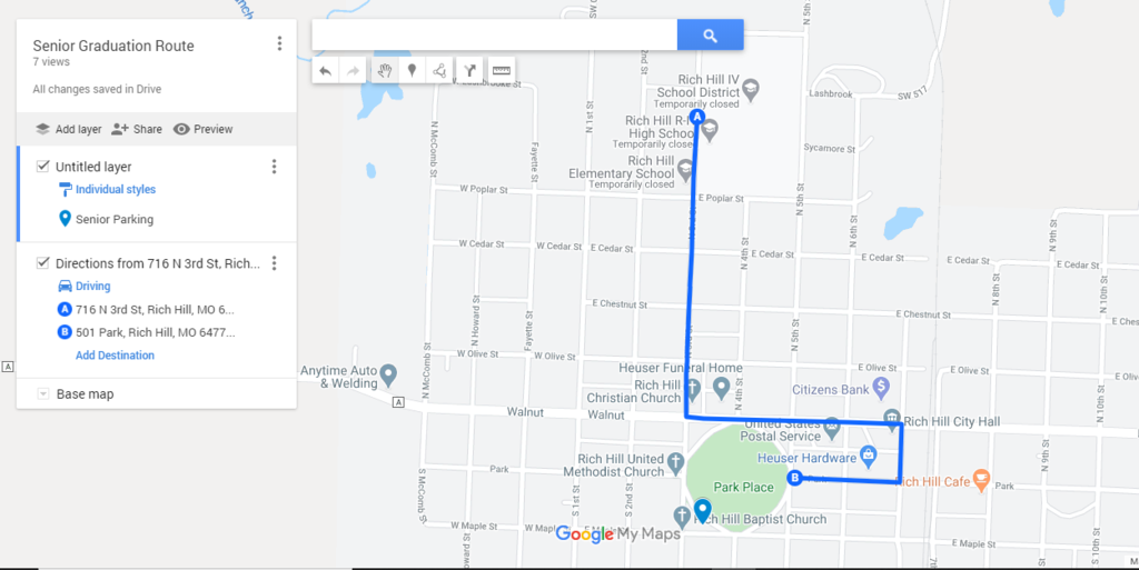 Senior Graduation Route